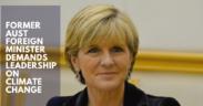 Julie Bishop demands leadership on climate